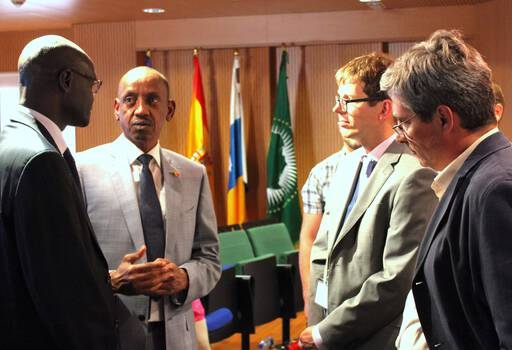 Meeting with Senegal's Ambassador to Spain and Surgeon General
